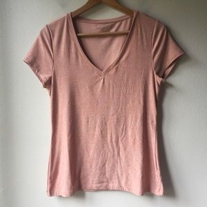 Beyond Yoga Featherweight Spacedye V Neck Tee